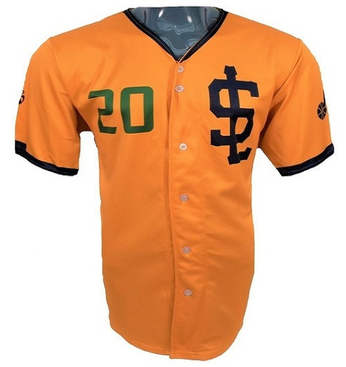Jazz Bees Authentic Jersey - NoveltyCollectiblesMemorabilia - Salt Lake Bees - 20 - Gold -