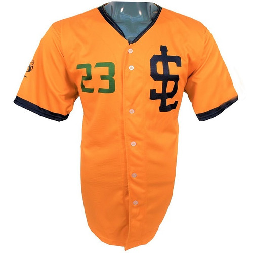 Jazz Bees Authentic Jersey - NoveltyCollectiblesMemorabilia - Salt Lake Bees - 23 - Gold -
