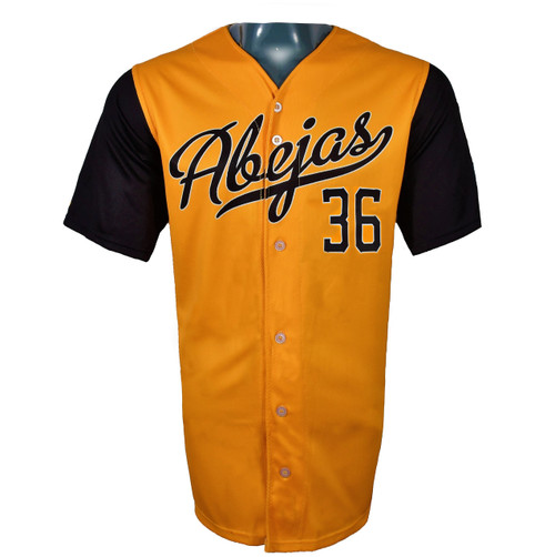 Abejas Authentic Jersey - NoveltyCollectiblesMemorabilia - Salt Lake Bees - 36 - Gold -