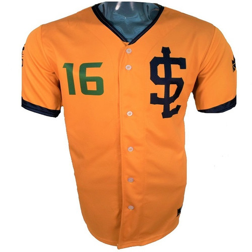 Jazz Bees Authentic Jersey - NoveltyCollectiblesMemorabilia - Salt Lake Bees - 16 - Gold -