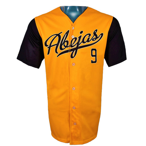 Abejas Authentic Jersey - NoveltyCollectiblesMemorabilia - Salt Lake Bees - 9 - Gold -