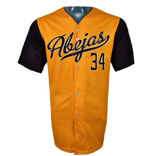 Abejas Authentic Jersey - NoveltyCollectiblesMemorabilia - Salt Lake Bees - 34 - Gold -