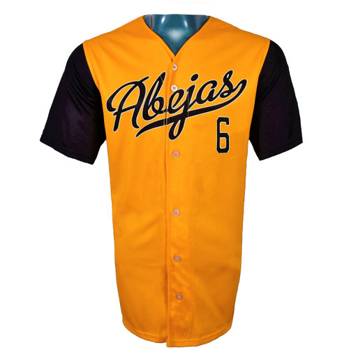 Abejas Authentic Jersey - NoveltyCollectiblesMemorabilia - Salt Lake Bees - 6 - Gold -