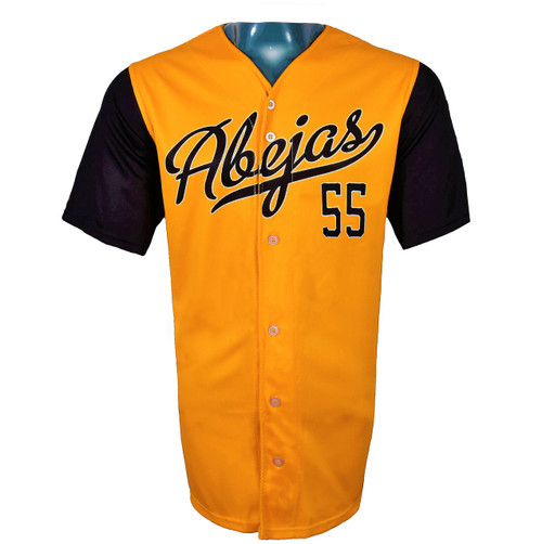 Abejas Authentic Jersey - NoveltyCollectiblesMemorabilia - Salt Lake Bees - 55 - Gold -