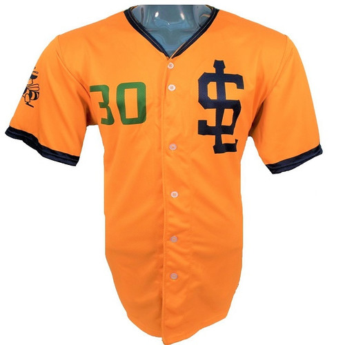 Jazz Bees Authentic Jersey - NoveltyCollectiblesMemorabilia - Salt Lake Bees - 30 - Gold -