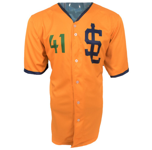 Jazz Bees Authentic Jersey - NoveltyCollectiblesMemorabilia - Salt Lake Bees - 41 - Gold -