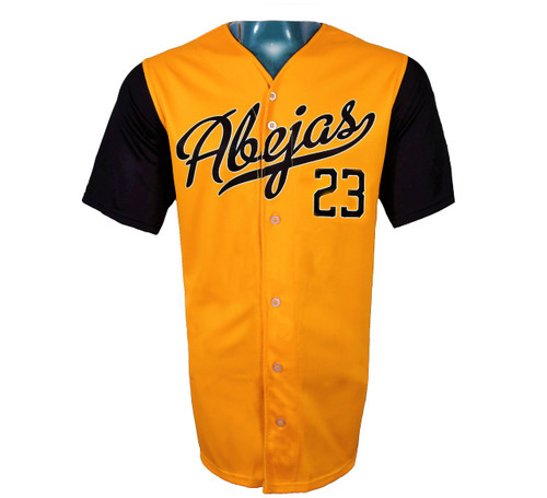 Abejas Authentic Jersey - NoveltyCollectiblesMemorabilia - Salt Lake Bees - 23 - Gold -