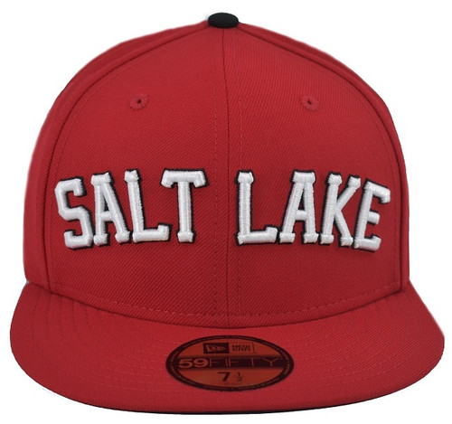 Red Wordmark 5950 - HeadwearFittedMens - Salt Lake Bees -  - Red - Vendor Name