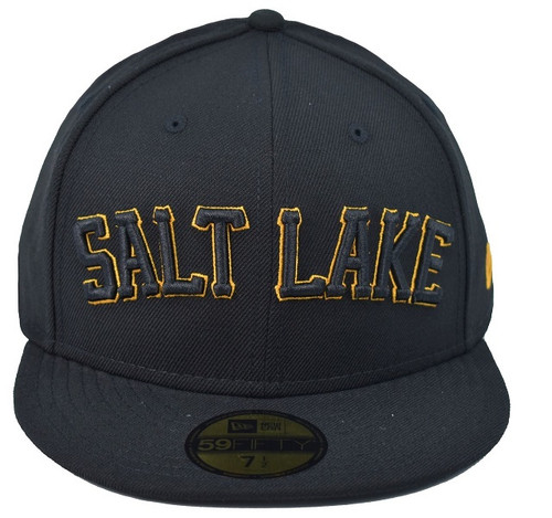 Pop Black Wordmark 5950 - HeadwearFittedMens - Salt Lake Bees -  - Black - Vendor Name