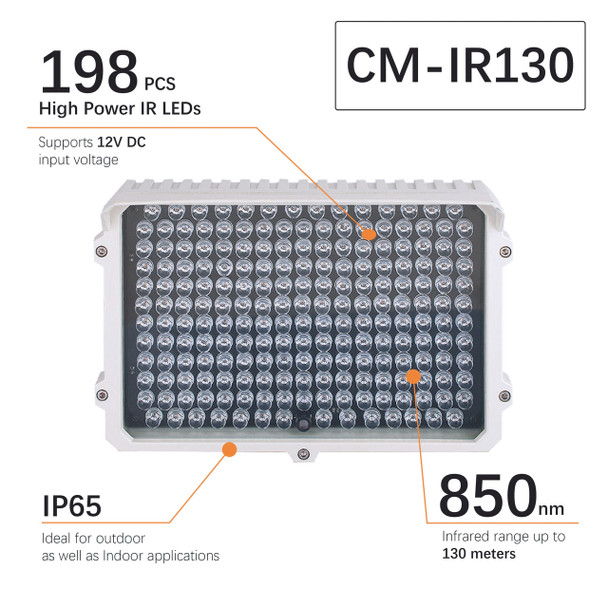 CMVision CM-IR130 198 LEDS  300-400ft Long Range IR Illuminator