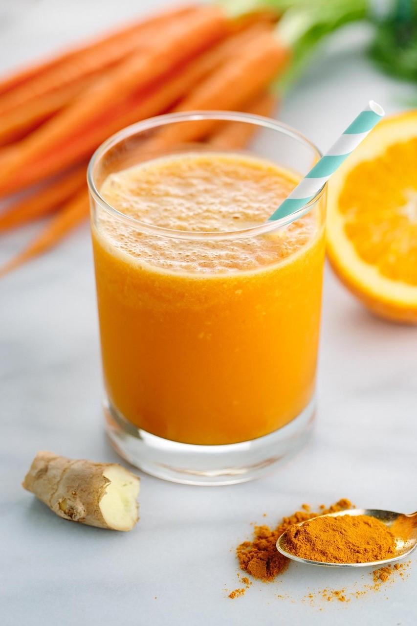Orange, Ginger, Carrot and Turmeric Juice