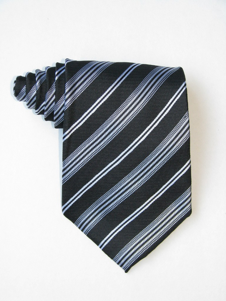 Free Black Background And White Stripe Tie