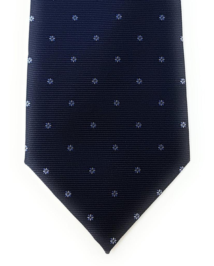 Labiyeur Men's Necktie: Fully Lined Woven Jacquard Slim Neck Tie Navy Blue Starry