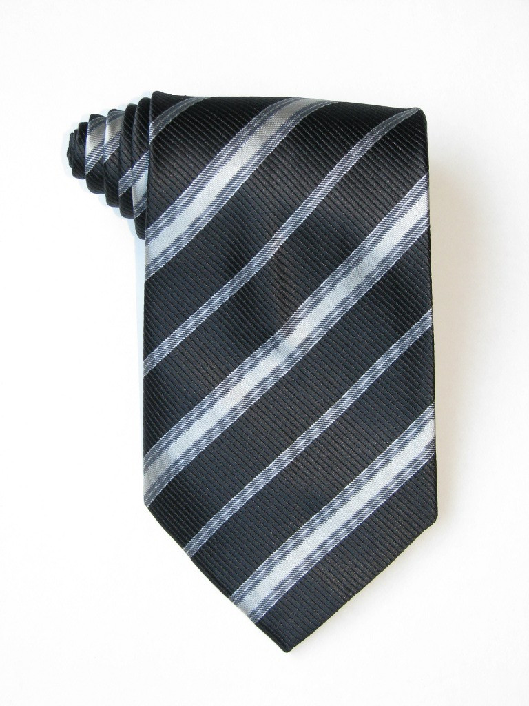 Black And White Stripe Tie