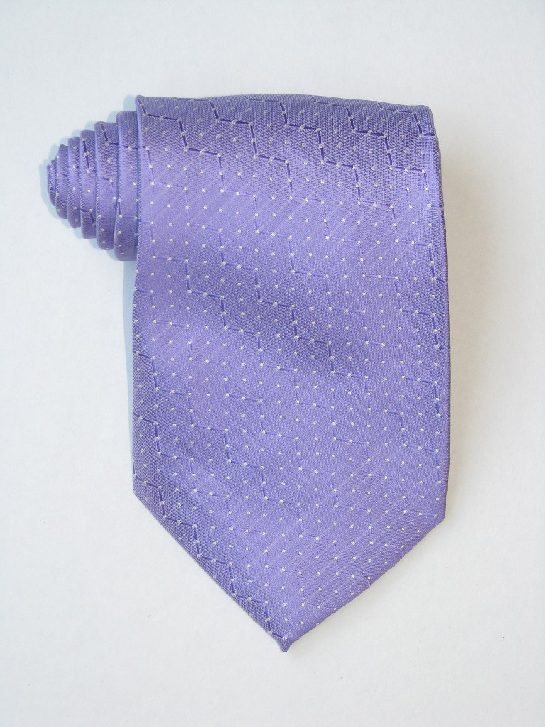White Dots Purple Tie