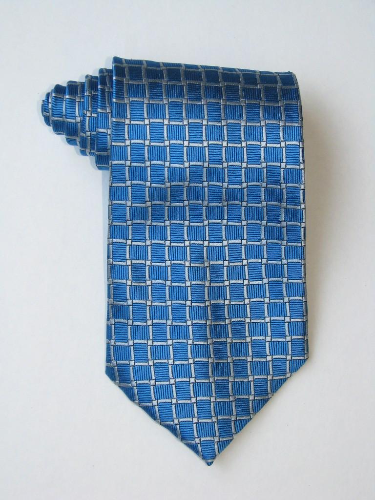 Squares Blue Tie
