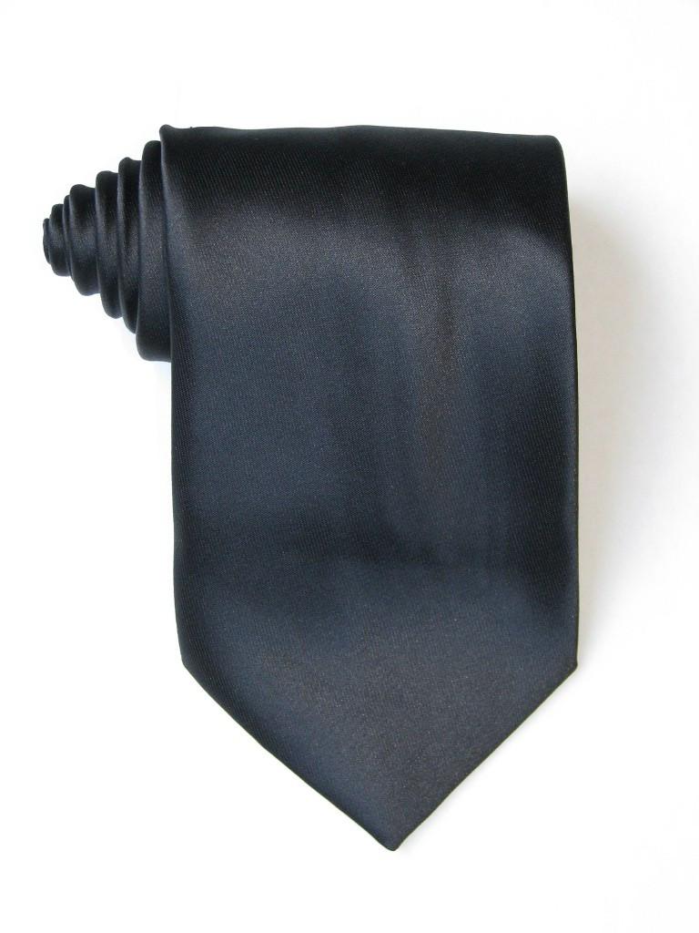 Solid Black Tie
