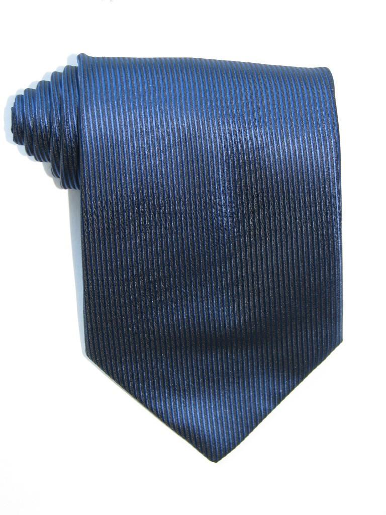 Navy Lined Tie