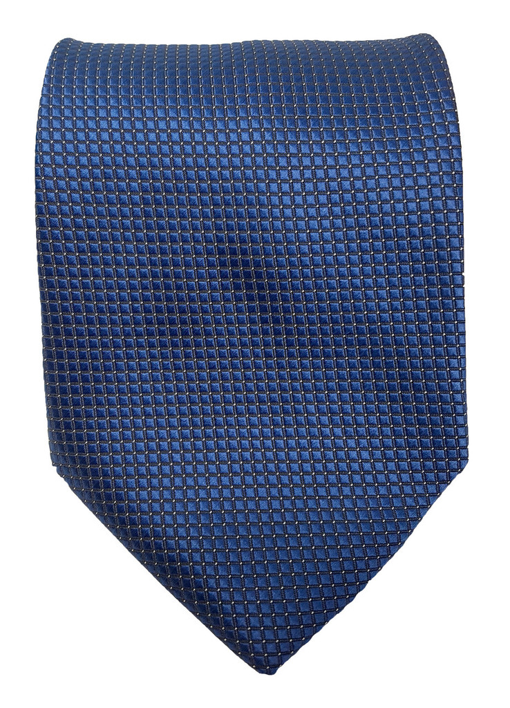 Little Squares Navy Tie