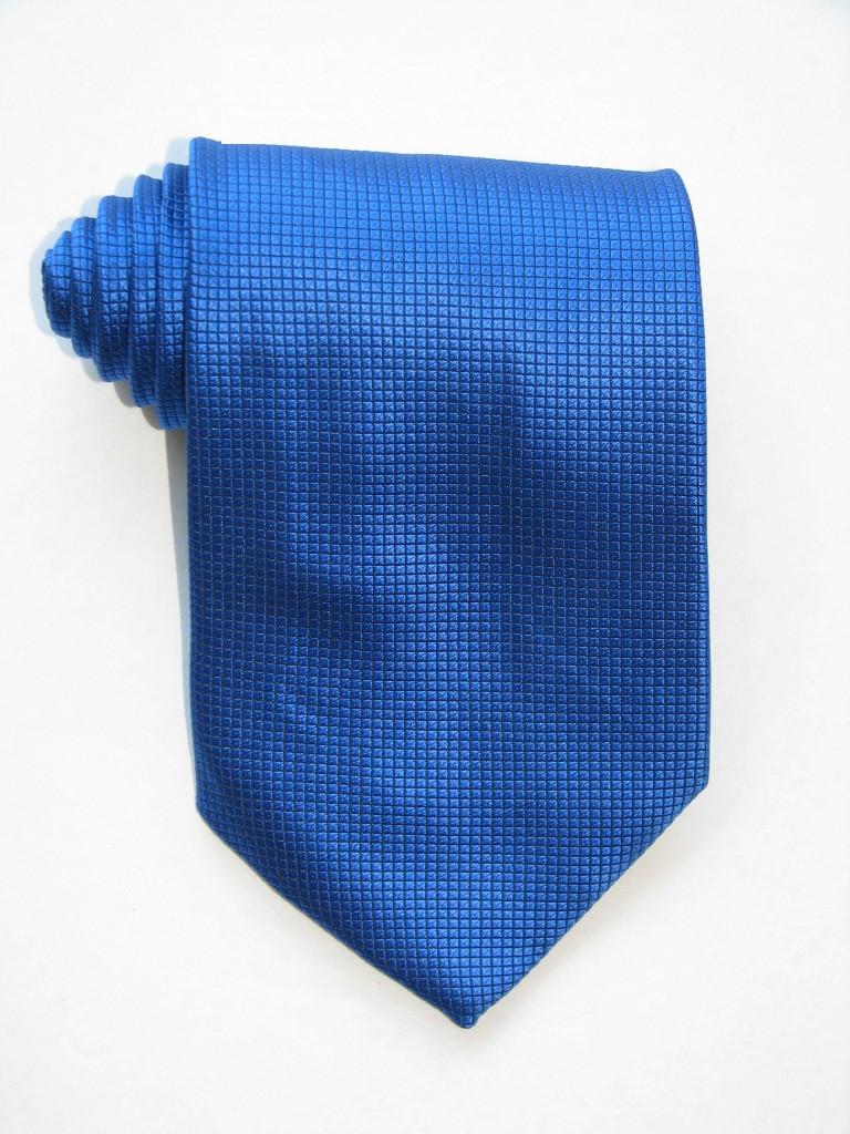 Little Squares Shining Blue Tie