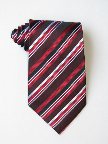 Free Red White Black Stripe Tie