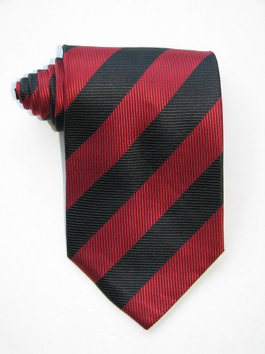 Red and Black Bands Tie