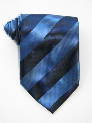 Blue And Navy Bands Tie