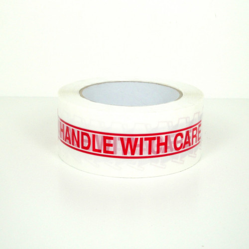 Printed Carton Sealing Tape - Fragile 2 Mil 2 in - Wholesale Prices from TapeJungle.com