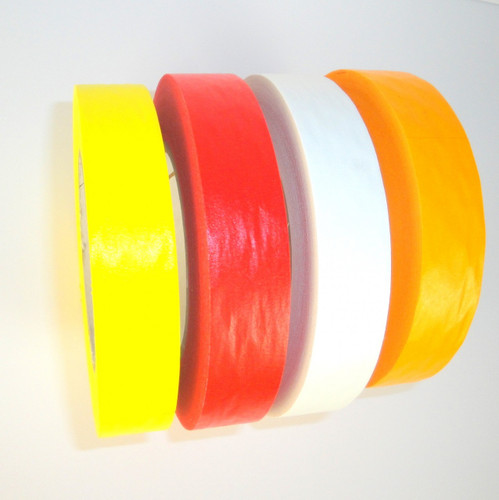 Colored Flatback Tape -  Colored Printable Flatback Tape, Yellow, Red, White, Orange Colored Flatback Tape - TapeJungle.com - The Discount Tape Superstore.