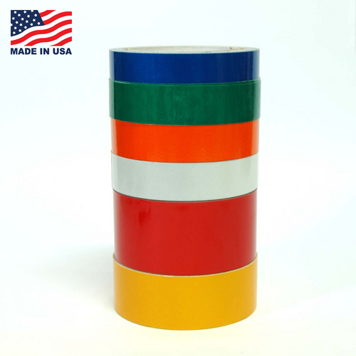 "Reflective Tape Engineering Grade - 10 YD - 6 colors - 1/2"" to 6"" - TapeJungle.com - 305-231-8273."