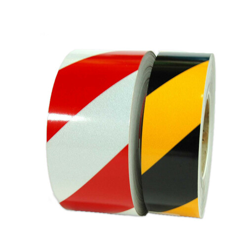 "Striped Reflective Tape - 10 YD and 50 YD - 1"" to 6"" by Roll or by Case from Tape Jungle.com - Call us at 305-231-8273."