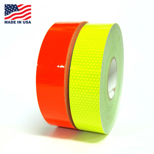 "Reflexite Fluorescent Daybright Tape 5 Year - 1"" to 2"" Rolls, 150 feet by the Case or by the Roll - Call us at 305-231-8273."
