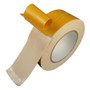 Double Coated Polyester Fabric Tape 6 Mil - White | White Synthetic Rubber Adhesive | TapeJungle.com