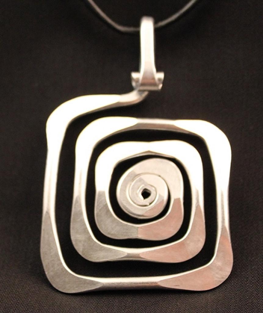 spiral square pendant