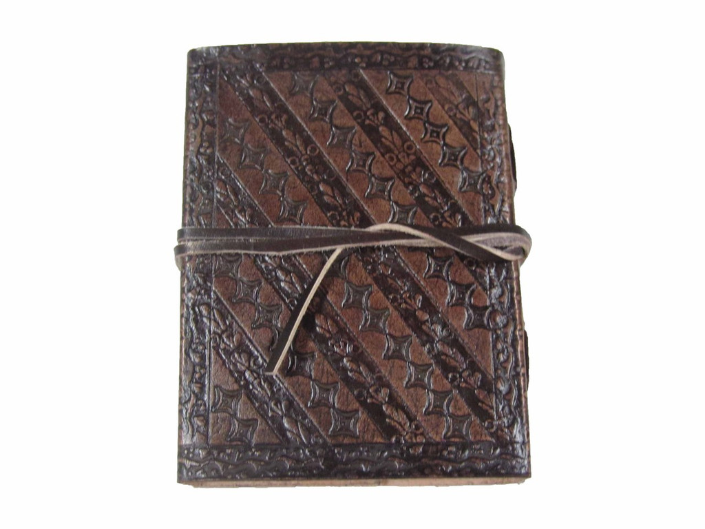 embossed leather journal - small - back cover