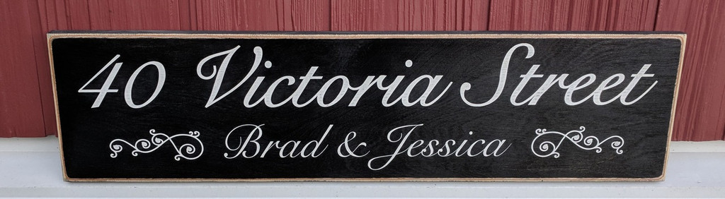 Personalized Address Wood Sign