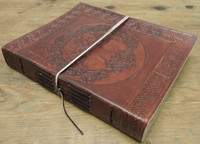 Tree of Life Celtic Old World Leather Journal - side view