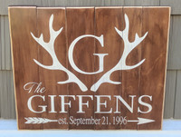 Customer family sign with monogram