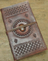 9 x 5 leather journal - old world style