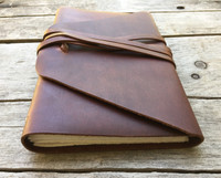 Rustico Messenger Leather Journal Bottom view