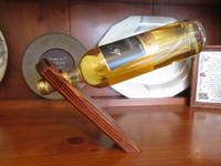 handcrafted wine bottle holder