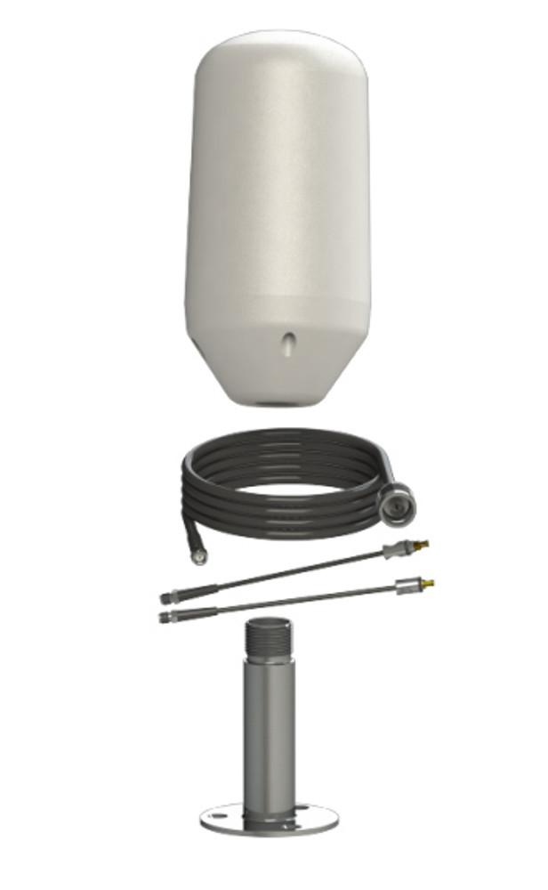 Thuraya External Antenna - Marine kit with deck mount (TH-ANT-DECKMOUNT-ANT 8M-SS/XT)