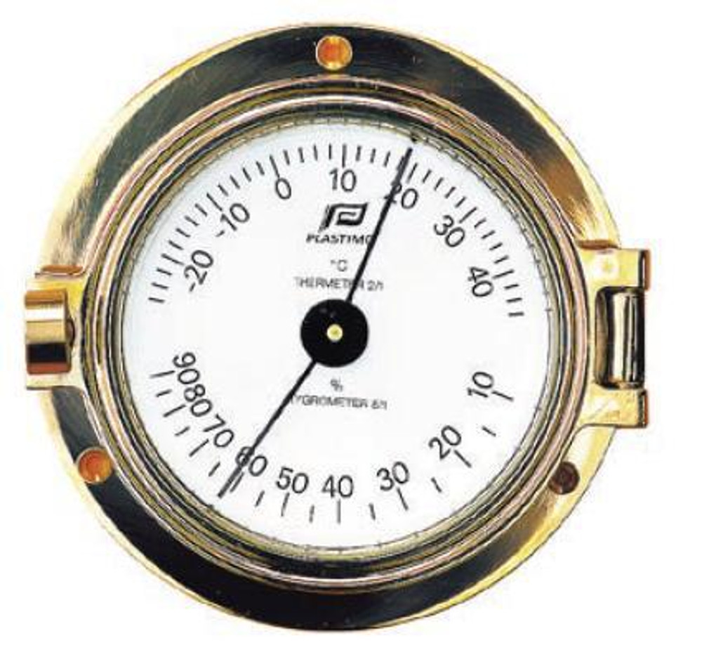 3 inch thermometer-hygrometer porthole