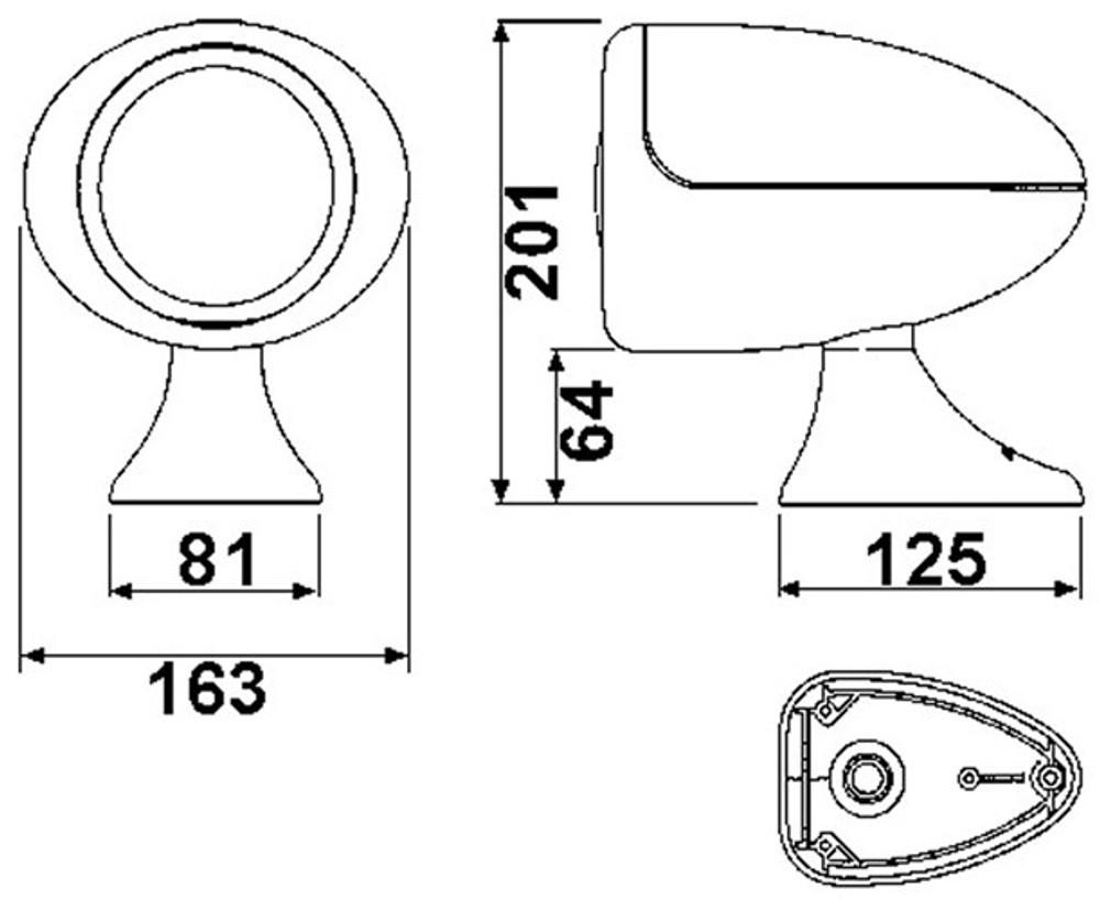 Jabsco Remote Control Searchlight 155SL Standard/Deluxe (J60-102/J60-103)