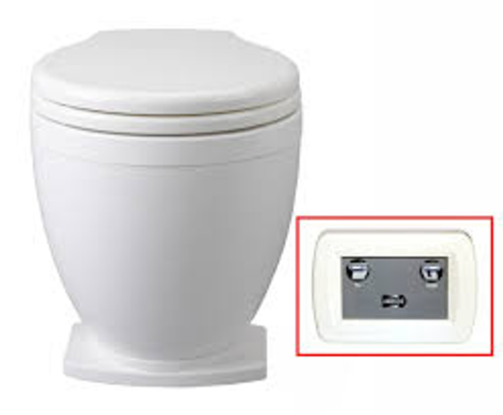 Jabsco Lite-Flush Toilet with Wall Mount Control Panel
