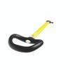 Spinlock Asymmetric Handle Tiller Extension - Matt Yellow
