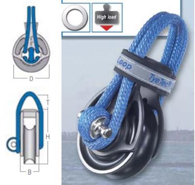 TyeTec Loop Block Series 1 Code Blue, Plain Bearings, Short Loop
