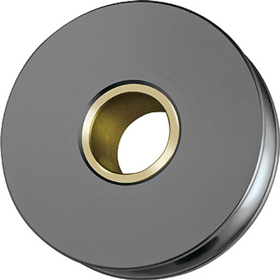 Ronstan Aluminium Sheave, Solid Brass Bush, 75mm Suits 8mm Wire (RZ1000AW)