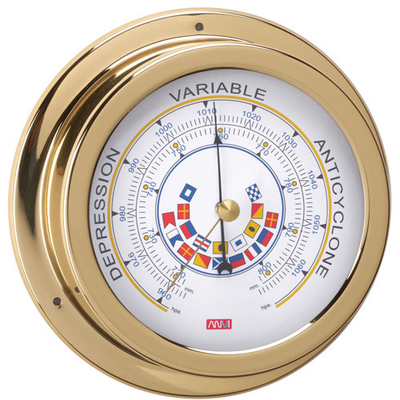 RWB Barometer Brass Code Flags 120mm