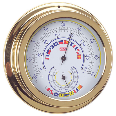 RWB Thermometer & Hygrometer Brass Code Flags 120mm